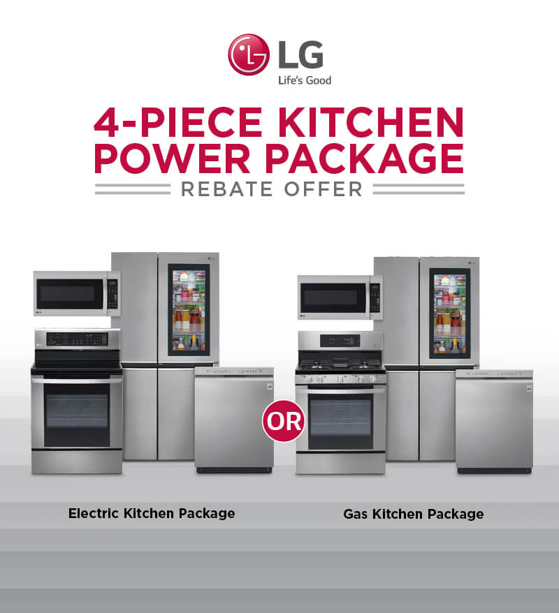 LG 4-Piece Kitchen Power Package
